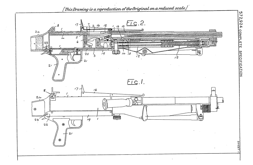 Patents: BESAL Light Machine Gun