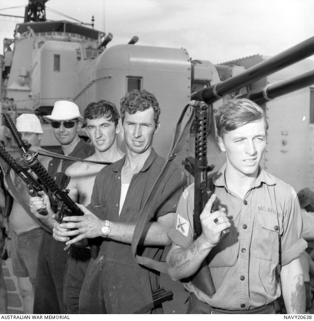 Australian Sailors with F1 SMG