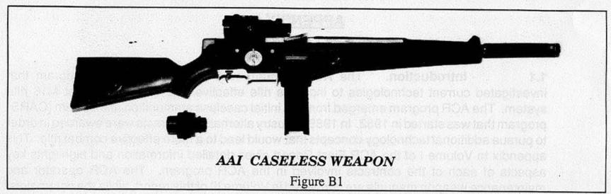 AAI's Caseless Ammunition Rifle (US Army)