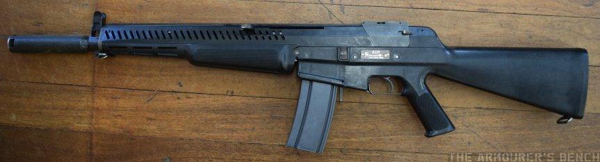 Left of the AAI ACR rifle (Matthew Moss)