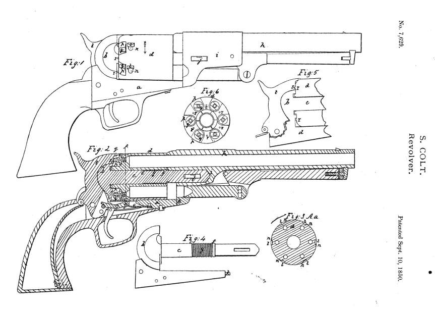 Samuel Colt's 1850 Patent