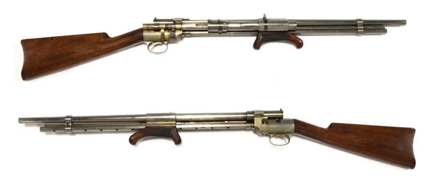 Krutzsch's pump action rifle
