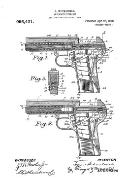 Louis Schmeisser's 1910 patent (Us Patent Office)
