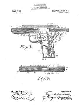Louis Schmeisser's 1910 patent (Us Patent Office)