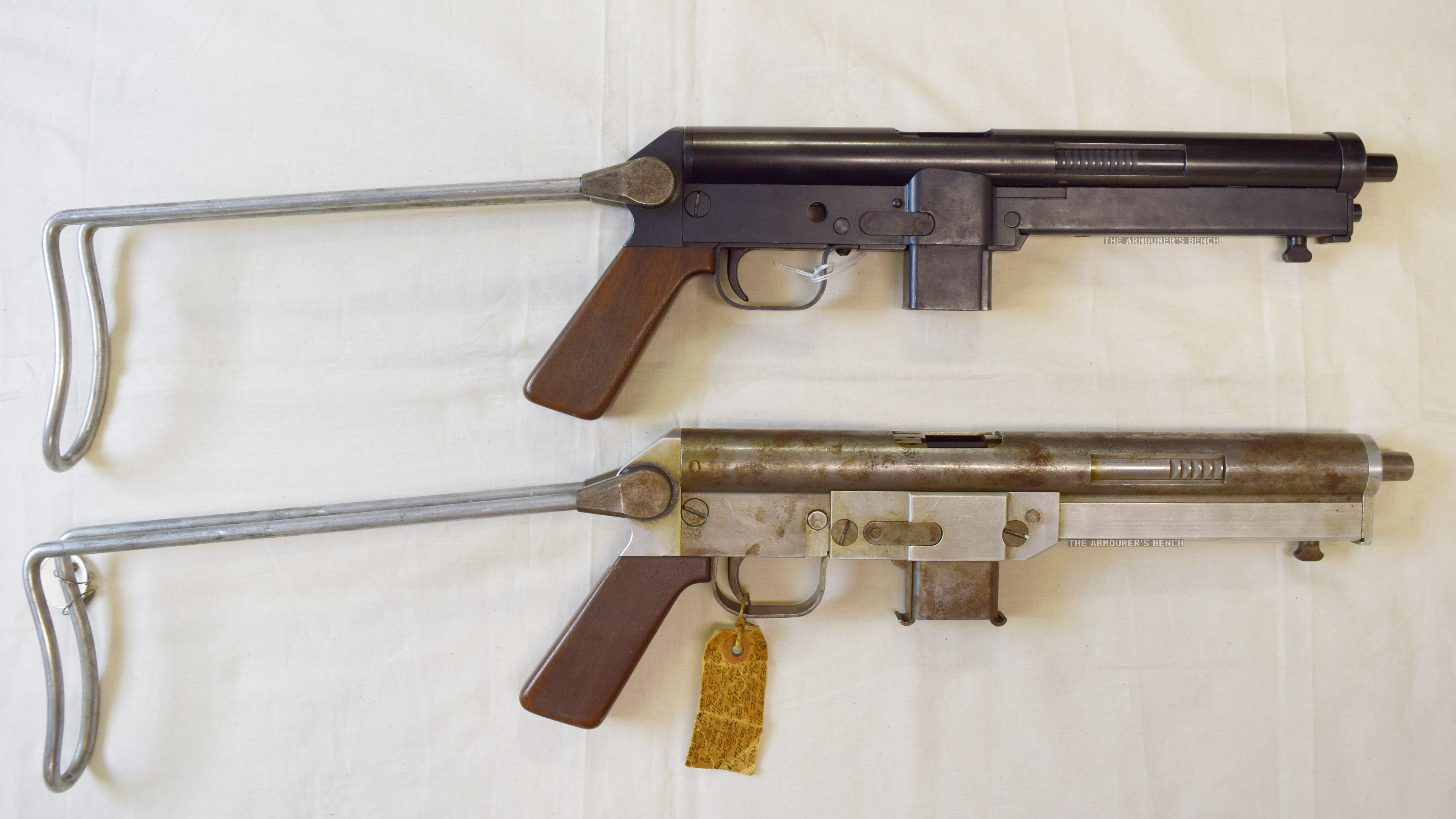 Right side 2 Winchester SMG prototypes