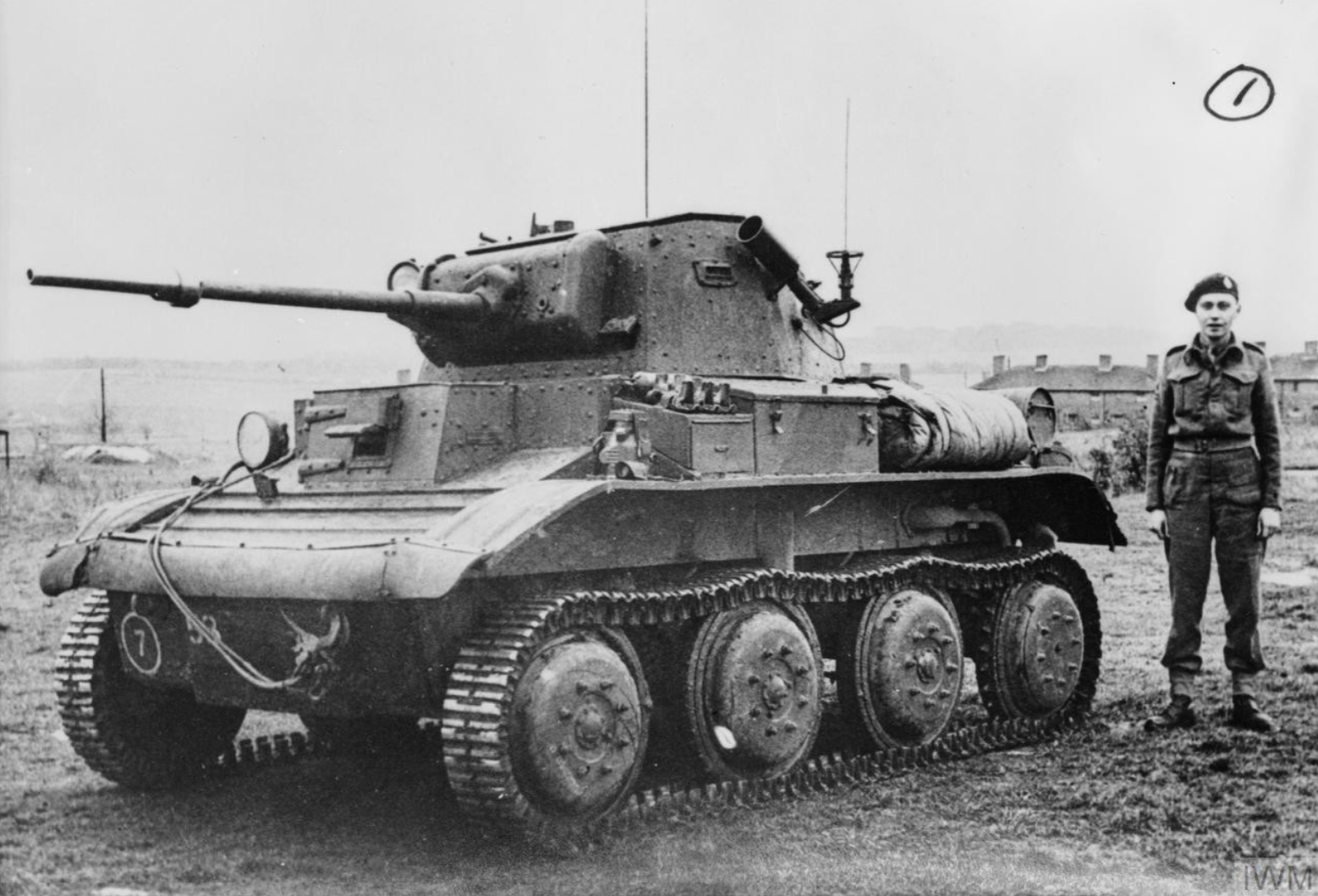 Mk VII Tetrarch Mk I with Little John adaptor IWM